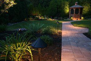 path lighting in backyard offering path light